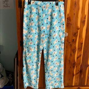 Kim Rogers Fuzzy Dog Pajama Pants